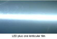 LED plus one lenticular film